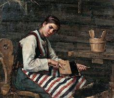 art Maria Wiik | Maria Wiik: Karstaava tyttö 1883