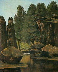 Landscape by Gustave Courbet
