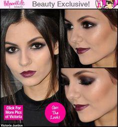 Victoria Justice's Makeup — Dark Lips & Smokey Eyes Tutorial - Hollywood Life