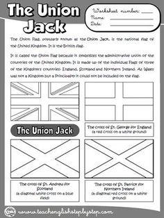The Union Jack - Worksheet (B & W version)