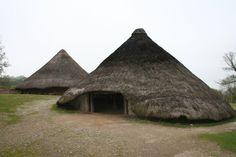 Castell Henllys, round houses