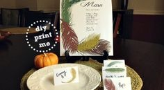 To make your Thanksgiving Day complete, here are  FREE DIY Printable 'Birds of a Feather' Thanksgiving Day Place Cards & Menu templates to match previously posted {DIY Printable 'Birds of a Feather' Thanksgiving Day Invite}. Enjoy!