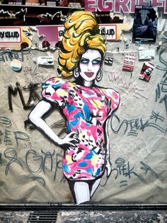 Suriani - street art - Paris 2, rue greneta (juil 2014)
