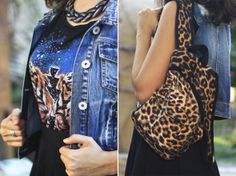 #animalprint #denim #vest #backpack