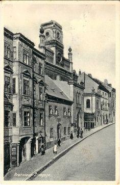 Bratislava, Pozsony, Pressburg, 1862-3 Bratislava, Street View, Postcards, Times, Greeting Card