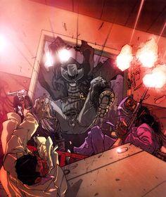 Spider-Man: Spider-Man Noir Comic Book Characters, Marvel Characters, Comic Character, Noir Spiderman, Marvel Dc, Marvel Comics, Hero Up, Cosplay Armor, Spider Verse
