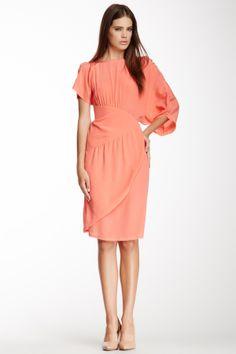 Asymmetrical Sleeve Silk Dress - very interesting lines...