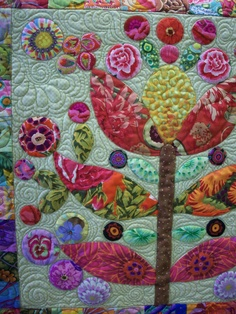 Interesting background quilting