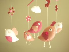I could totally make this for baby girl's room! Too cute
