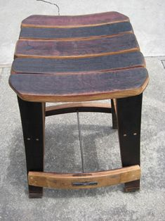 Wine Stave Stool | Wine Cask Creations