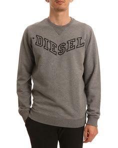 DIESEL, Bansi Logo Marl Grey Sweater