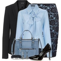 A fashion look from January 2015 featuring Dolce&Gabbana blouses, rag & bone blazers et Precis Petite skirts. Browse and shop related looks.