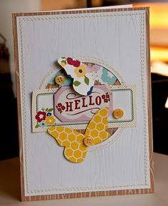 Butterfly card. Love how they're peeking out from behind the circle.