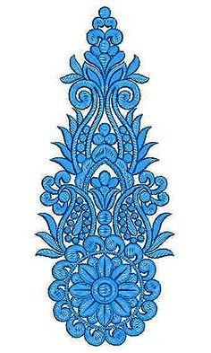 Ballroom Belly Dance Costume Applique Embroidery Design