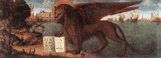 Carpaccio - il leone di San Marco - storia della pittura attraverso i francobolli