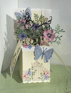 Diy Card Box, Pop Up Box Cards, Diy Box, Tuxedo Card, Box Cards Tutorial, Exploding Boxes, Butterfly Cards, Mothers Day Cards, Greeting Cards Handmade