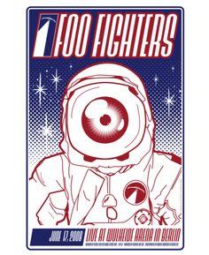 Posters de conciertos de Foo Fighters | Blue Play - Blue 100.7 FM