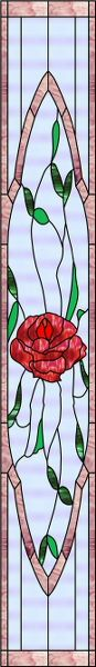 Sidelight with Rose Decorative Window Film