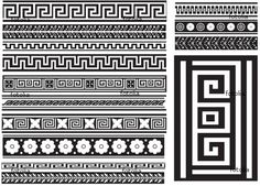 Victorian Convolvulus and Greek Key Pattern Tile   eBay