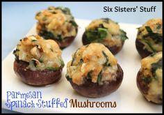 Parmesan Spinach Stuffed Mushrooms