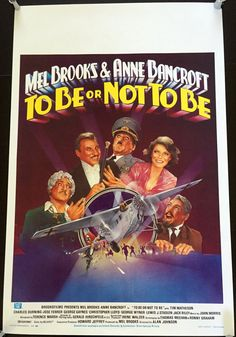To Be or Not to Be (1983) Vintage Belgian Movie Poster - Mel Brooks