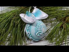 лайфхаки. Новогодний шарик. Использование молдов и глины. - YouTube