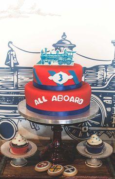 Boy's Vintage Train Birthday Party Food Ideas