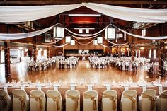 The Columbia Ballroom in Columbia Station, Ohio is such a cute wedding venue