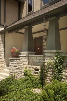 Traditional Porch Design--love the pillars