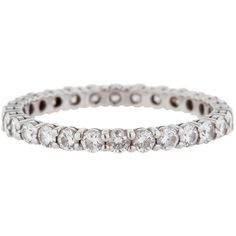 Tiffany & Co. Pre-Owned Tiffany & Co Diamond Eternity Band Ring (35 545 SEK) ❤ liked on Polyvore featuring jewelry, rings, bracelets, joias, accessories, diamond, tri color bracelet, eternity band ring, rubber band bracelet and pre owned engagement rings