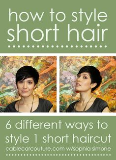 How to style short hair [cable car couture sophia simone] #shorthair #pixie
