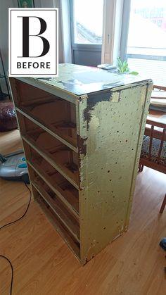 Before & After: A Dated, Rhinestone Covered Dresser Gets a DIY Makeunder
