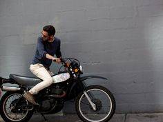 Man, ease, motorbike, On The Street…. 25th St., New York   The Sartorialist