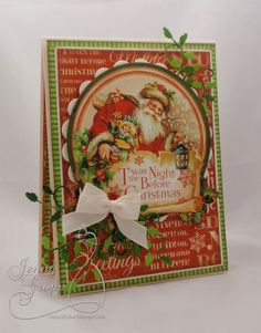 Christmas Card made with Graphic 45 T'was The Night Before Christmas Paper Collection