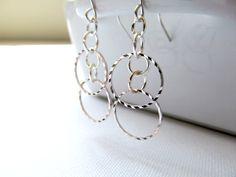 Silver Simple Hoops Earrings - Minimalist Silver Earrings by KatyaValera