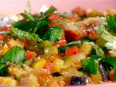 Ratatouille recipe from Emeril Lagasse *consider adding some crushed red pepper flakes for a little heat
