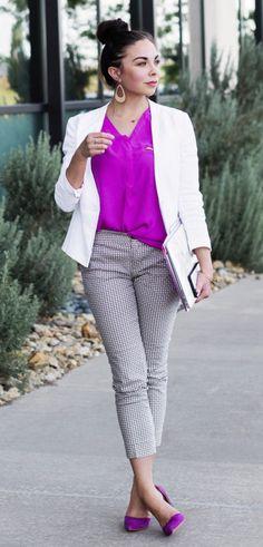 modest girlboss cute business casual outfit.