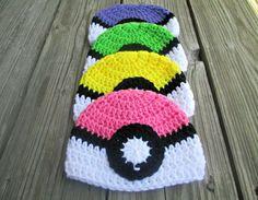 Tiny baby pokemon crochet hats: Gotta make 'em all!