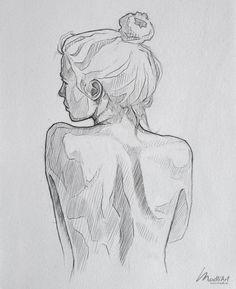 My Sketchbook Art I Drawing Woman I Nude Female Back I Drawing pose I Figure Dra… Zeichnungen iDeen ✏️ Pencil Art Drawings, Art Drawings Sketches, Sketch Art, Portrait Sketches, Figure Sketching, Figure Drawing, Anatomy Sketch, Back Drawing, Drawing Drawing