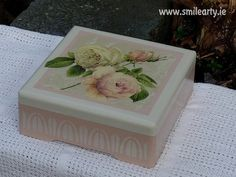 Stylish Roses Jewellery with - Ultimate for Her! Rose Jewelry, Jewellery Box, Dublin, Decoupage, Decorative Boxes, Arts And Crafts, Roses, Stylish, Handmade Gifts