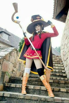 Konosuba - Megumin Cosplay - by Neneko Kawaii Cosplay, Cosplay Anime, Marvel Cosplay, Megumin Cosplay, Tsuyu Cosplay, Asian Cosplay, Cute Cosplay, Amazing Cosplay, Cosplay Outfits