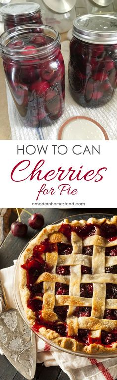 How to can cherries for pie! Canning these cherries while they are cheap this summer so we can eat cherry pie this winter! Yum!