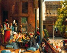 John Frederick Lewis - Midday Day Meal, Cairo