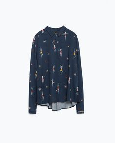 Image 8 of SHIRT WITH SIDE DETAIL from Zara