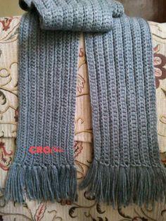 Crochet In Egypt: Scarf For Men and Women 2 - Schal Crochet Mens Scarf, Crochet Cap, Crochet Gifts, Crochet Shawl, Free Crochet, Crochet Scarves For Men, Crochet Hoodie, Crochet Scarfs, Irish Crochet