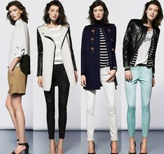 Mango, black, white and more muted colours