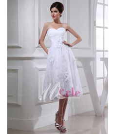 Short Wedding Dress£130.17 Tea Length Wedding Dress 78ec153287a9
