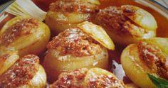Cipolla ripiena di carne trita