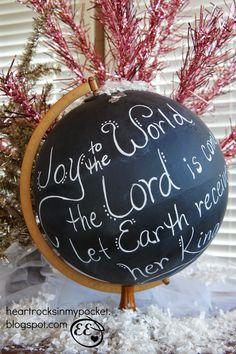 Christmas Chalkboard Globe