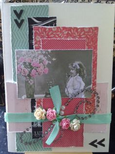 Card with just scraps... MME, Studio light.. oh scrap.. :)